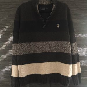 Striped US Polo Assn zip up sweater